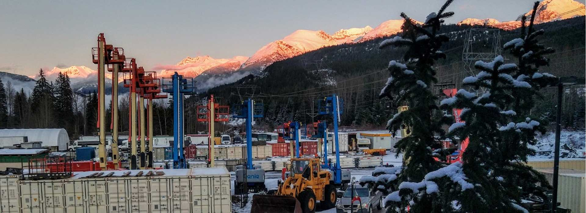 Contractor Equipment Rentals in the Whistler BC area